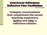 intentional reference reflective peer facilitation