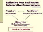 reflective peer facilitation collaborative conversations17