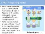 2 mdtf reporting portal