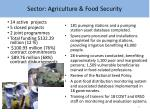 sector agriculture food security