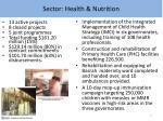 sector health nutrition