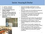sector housing shelter