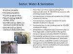 sector water sanitation