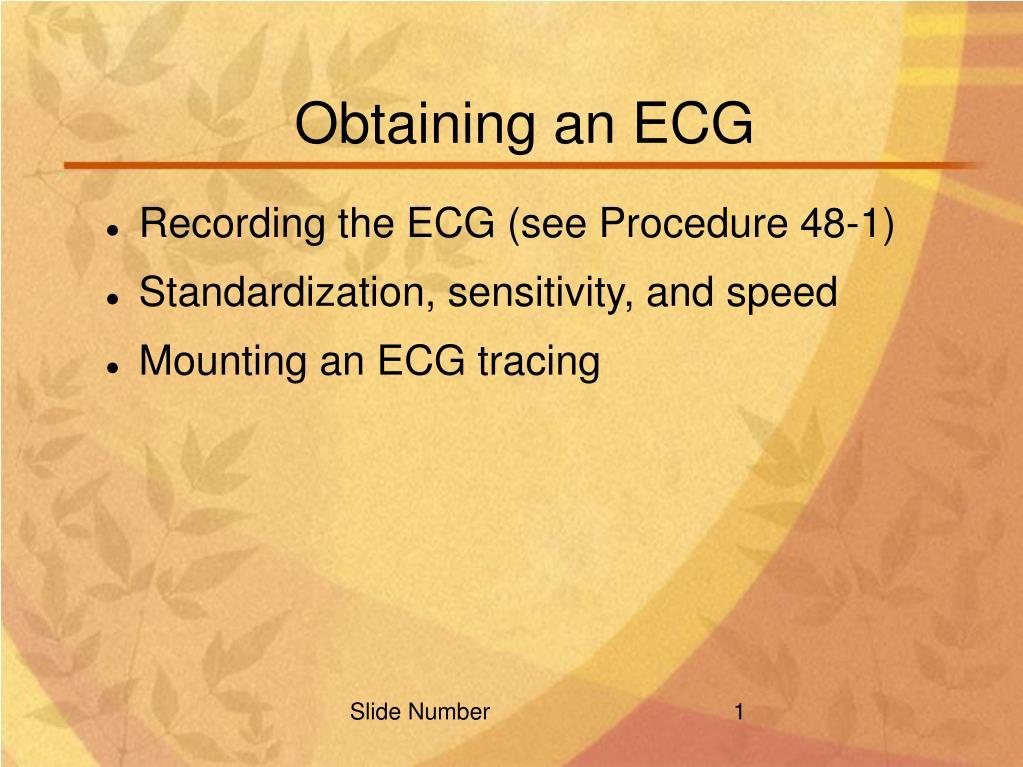 obtaining an ecg l.