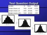 test question output