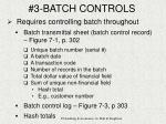3 batch controls7