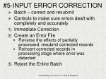 5 input error correction