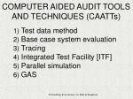 computer aided audit tools and techniques caatts