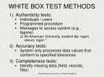 white box test methods