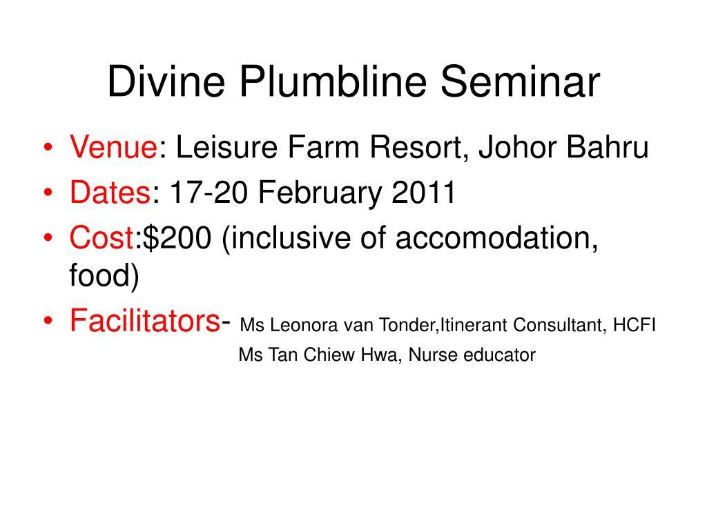 divine plumbline seminar l.