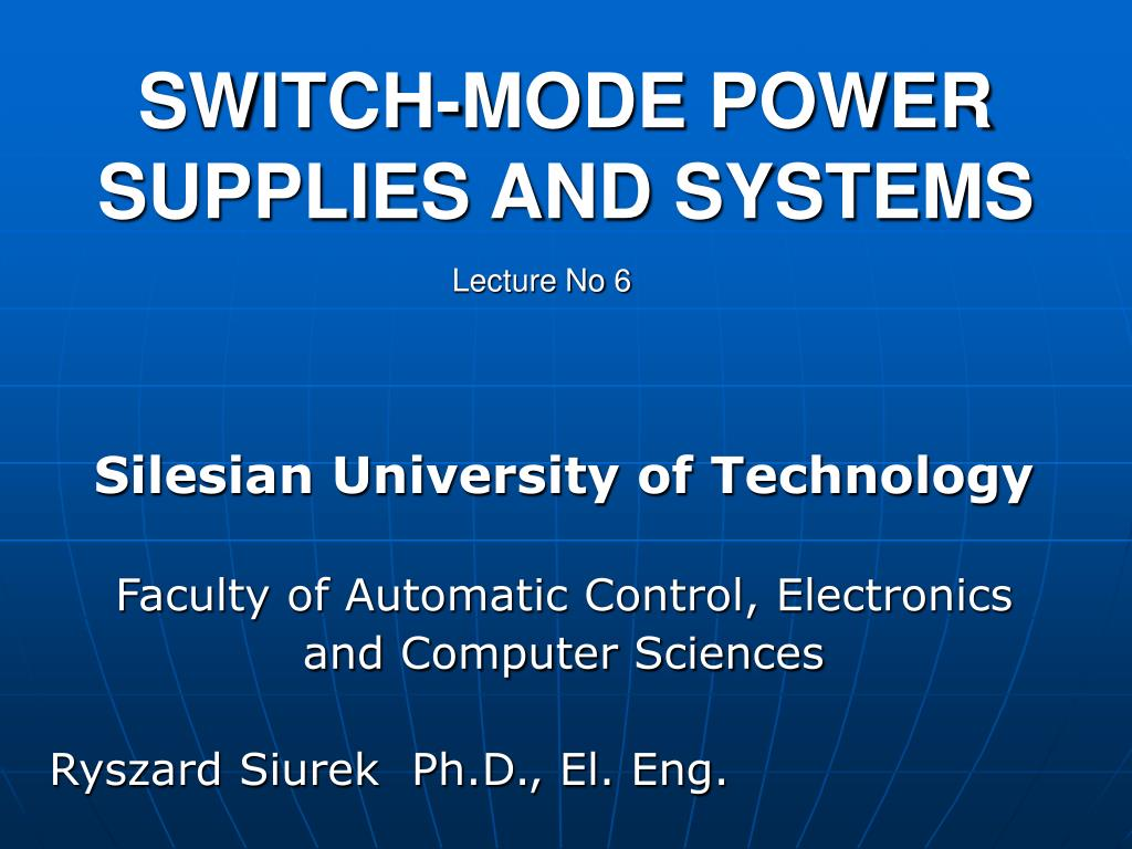 switch mode power supplies and systems l.