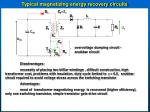 typical magnetizing energy recovery circuits