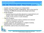 iss sw process best practices cont