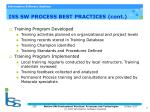 iss sw process best practices cont1