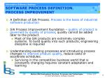 software process definition process improvement