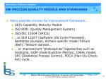 sw process quality models and standards