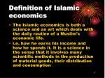 definition of islamic economics