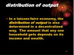 distribution of output