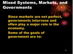 mixed systems markets and governments