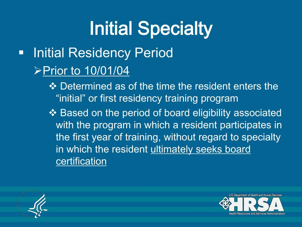 Initial Specialty
