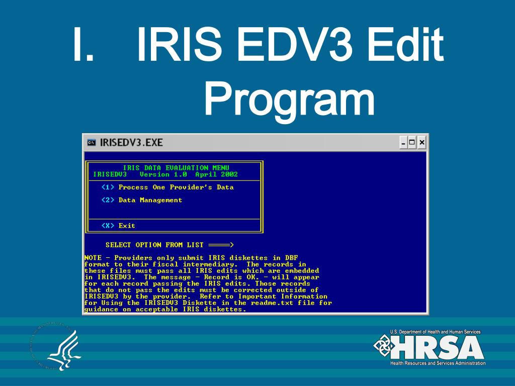 IRIS EDV3 Edit Program