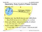 geometry duty cycle power control