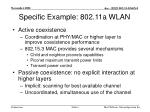 specific example 802 11a wlan