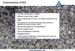 characteristics of pks