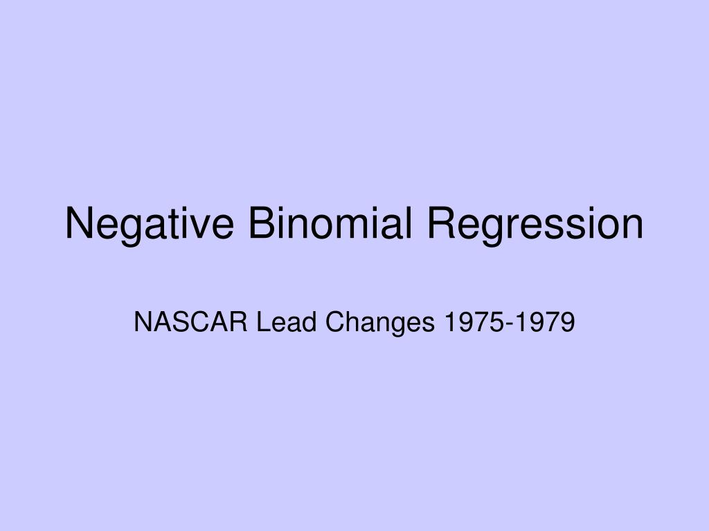 negative binomial regression l.