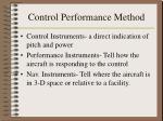 control performance method32