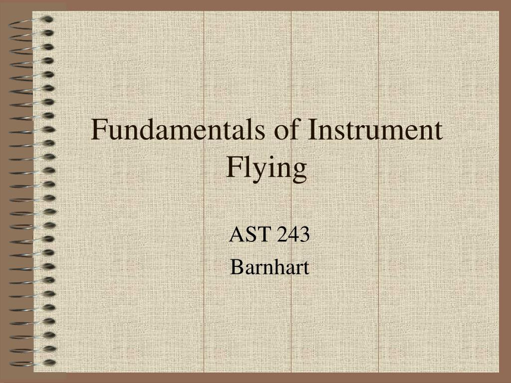 fundamentals of instrument flying l.