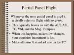 partial panel flight