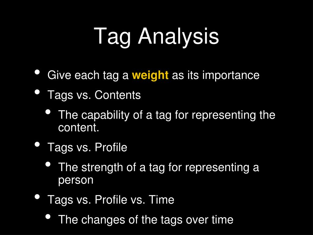 Give each tag a