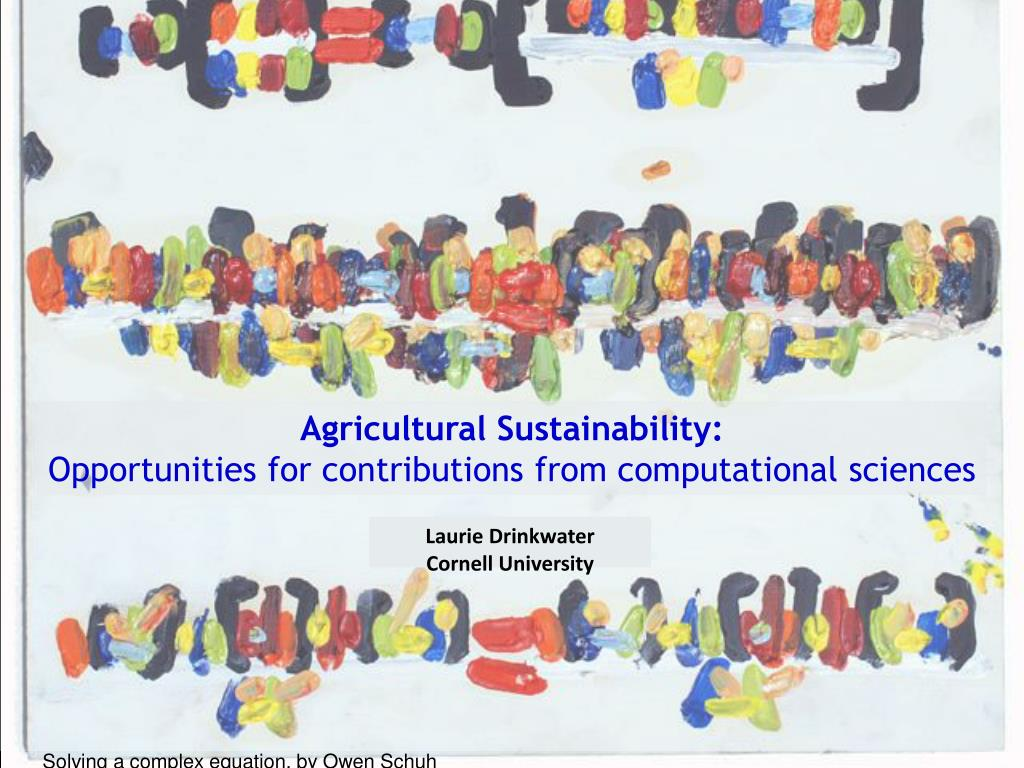 agricultural sustainability opportunities for contributions from computational sciences l.