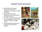 global food situation