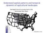understand spatial patterns and temporal dynamics of agricultural landscapes