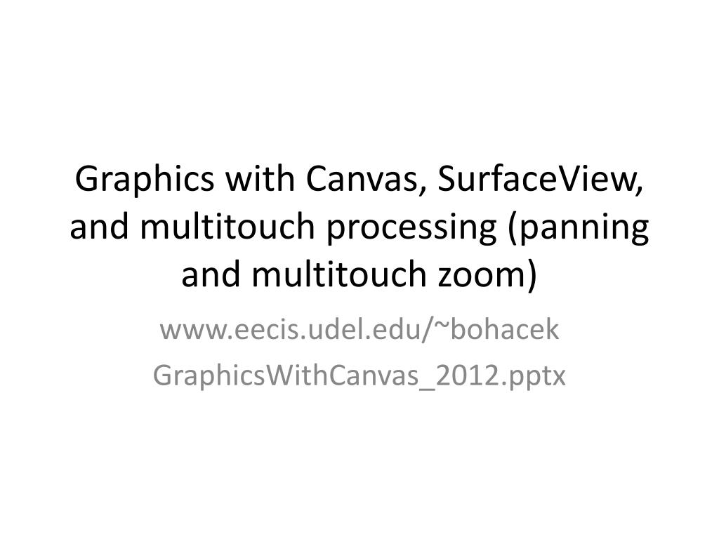 graphics with canvas surfaceview and multitouch processing panning and multitouch zoom l.