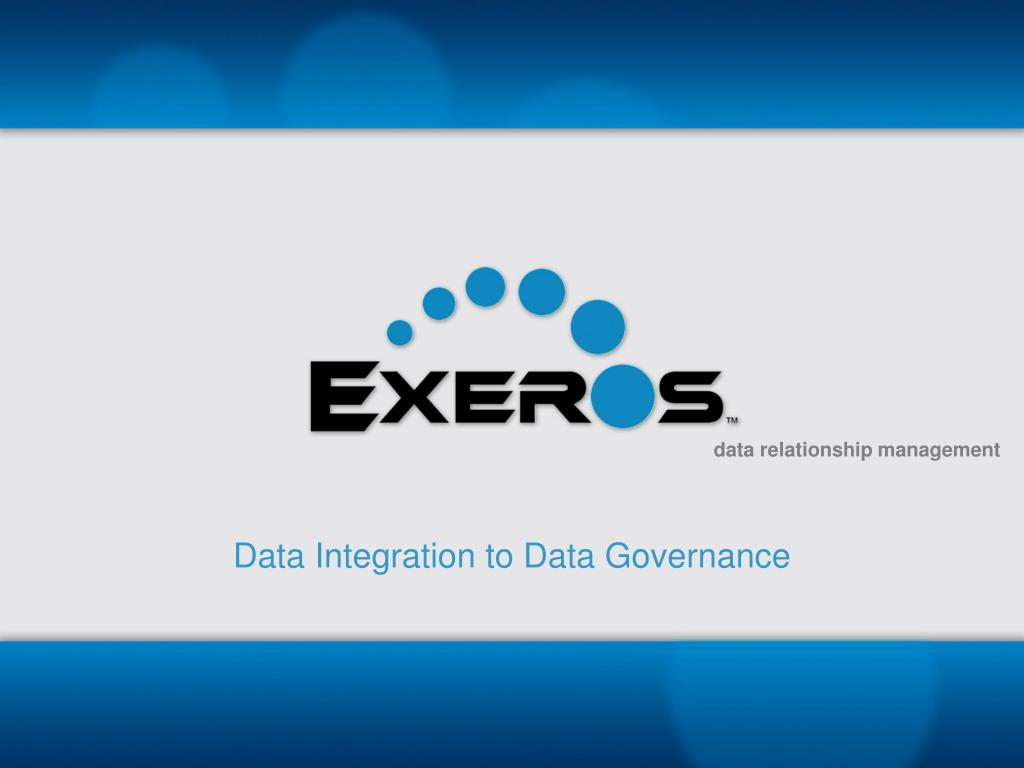 data integration to data governance l.