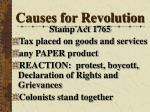 causes for revolution