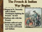 the french indian war begins