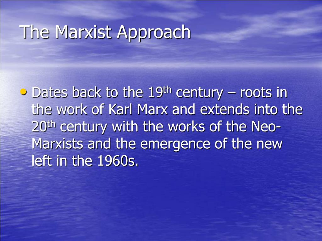 the marxist approach l.