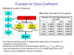 example for dose coefficient