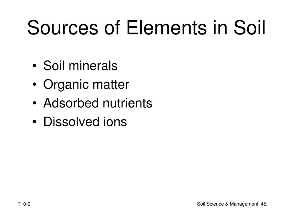 Sources of Elements in Soil