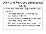 work and pensions longitudinal study5