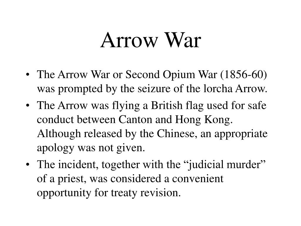 Arrow War