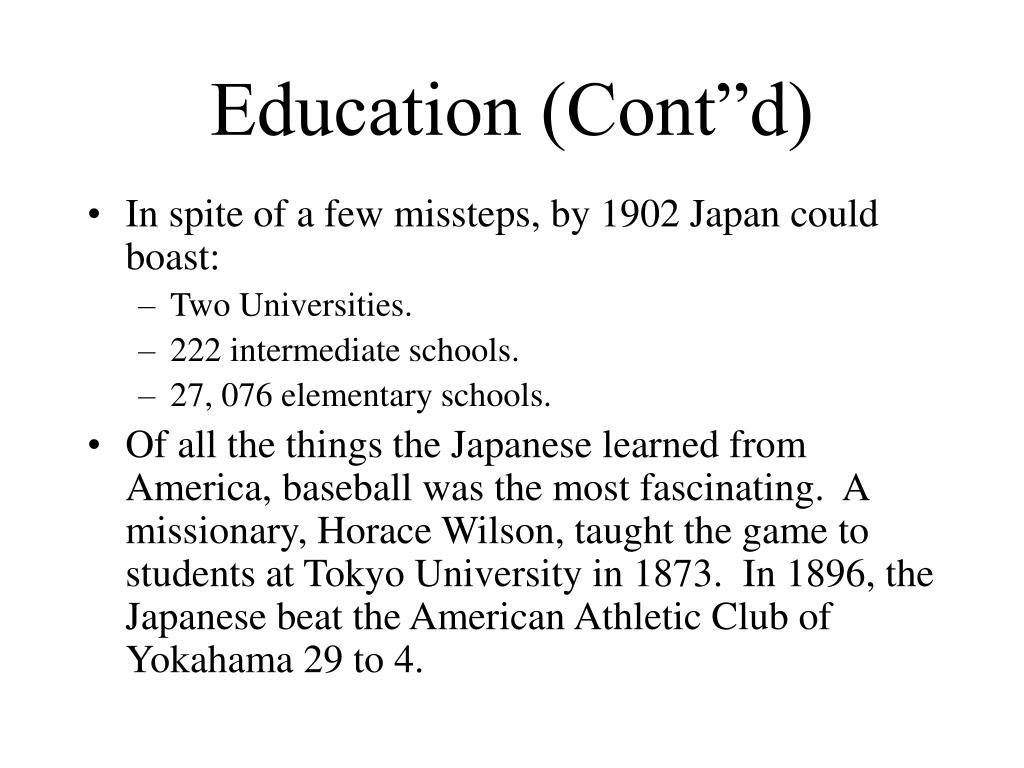 """Education (Cont""""d)"""