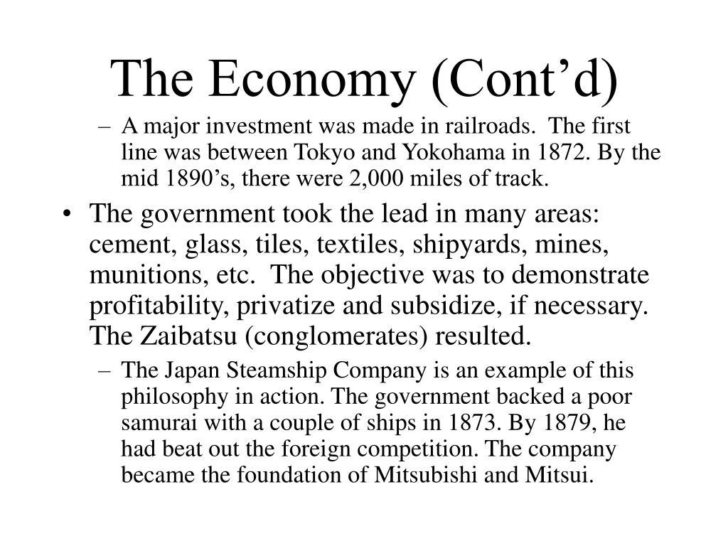 The Economy (Cont'd)