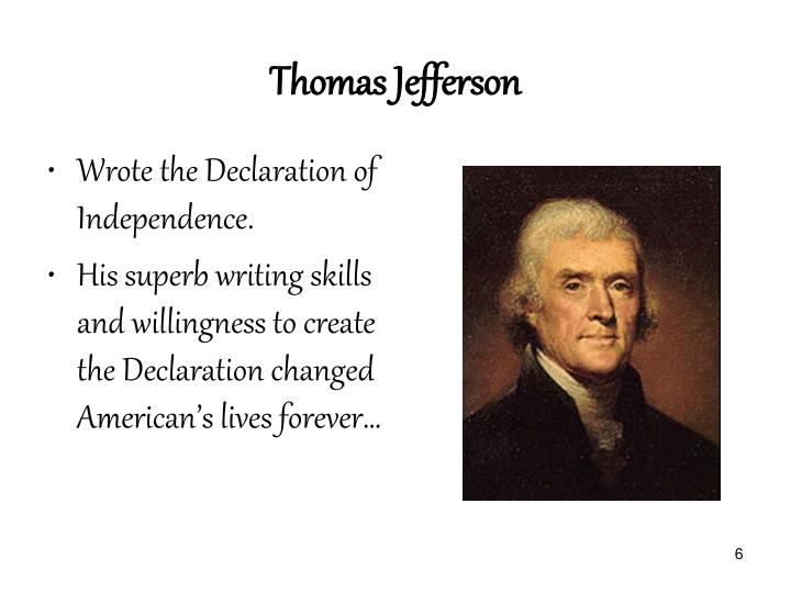 thomas jeffersons take on the declaration of independence As with so many debates in our 21st century moment, the question of race and the declaration of independence has become a divided and often overtly partisan one.