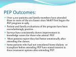 pep outcomes