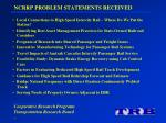 ncrrp problem statements received